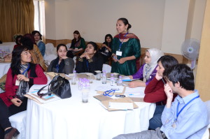 Schools teachers from Delhi and Kashmir at a professional development workshop on structured dialogue titled Education Beyond Examinations.
